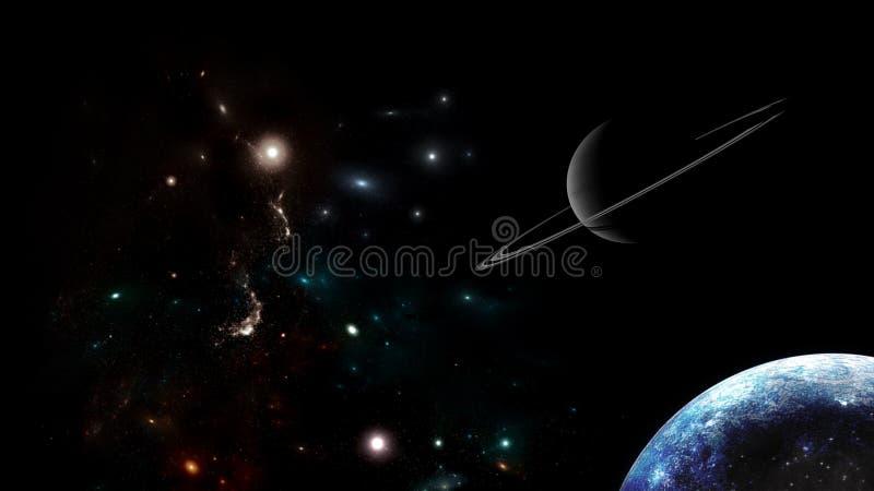 L'univers tous les matière et espace existants a considéré dans son ensemble le cosmos illustration de vecteur