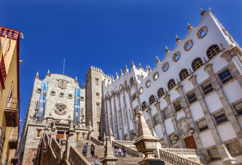 L'università di Guanajuato fa un passo Guanajuato Messico immagini stock libere da diritti