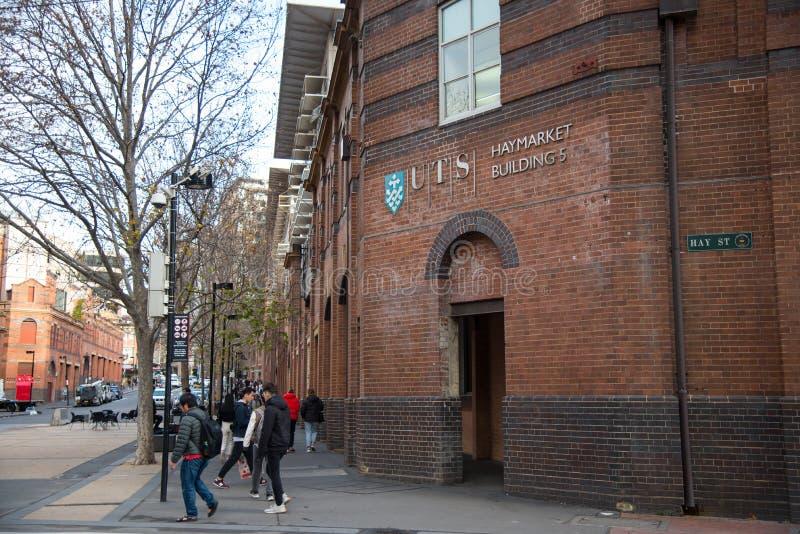 L'université de technologie Sydney Haymarket Building, UTS est une université publique de recherches située à Sydney images stock
