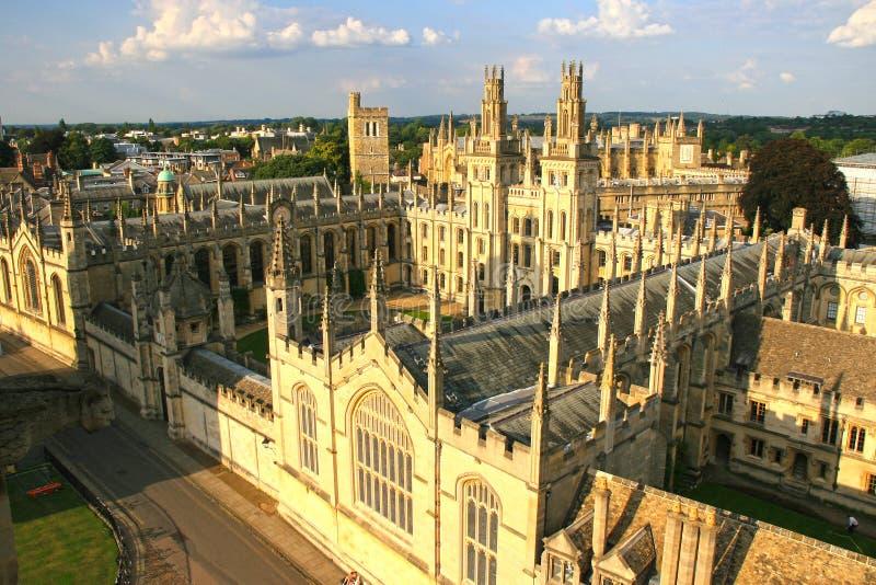 L'université de toute l'âme, Université d'Oxford photos libres de droits