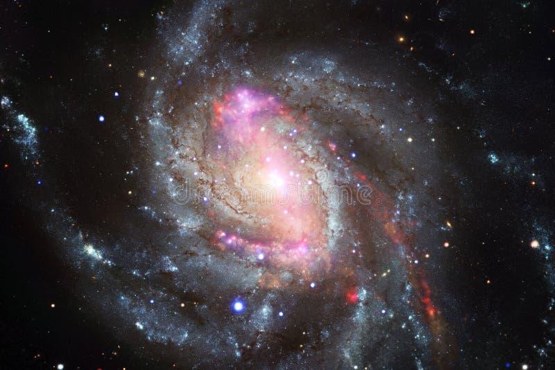 L'universo ha riempito le stelle, la nebulosa e la galassia Arte cosmica, carta da parati della fantascienza immagine stock