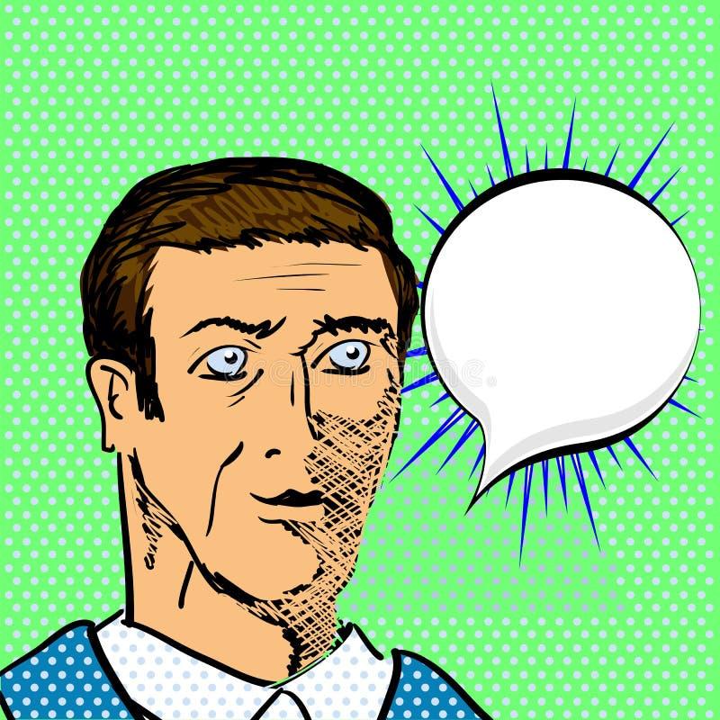 L'uomo adulto dice illustrazione di stock