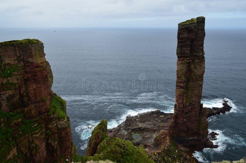 L'uomo anziano del Hoy, arcipelago di Orkney, Scozia immagine stock