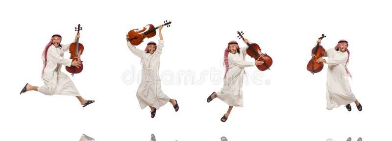 L'uomo arabo che gioca strumento musicale immagini stock libere da diritti