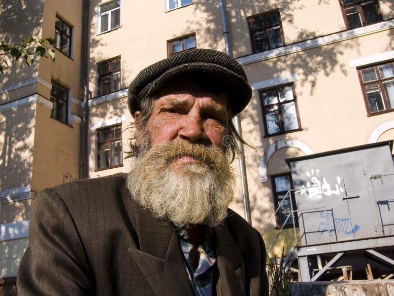 L'uomo barbuto anziano fotografie stock libere da diritti