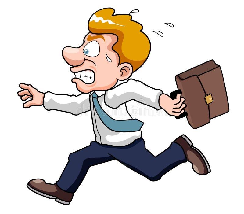 L'uomo d'affari è il tempo tardo illustrazione vettoriale