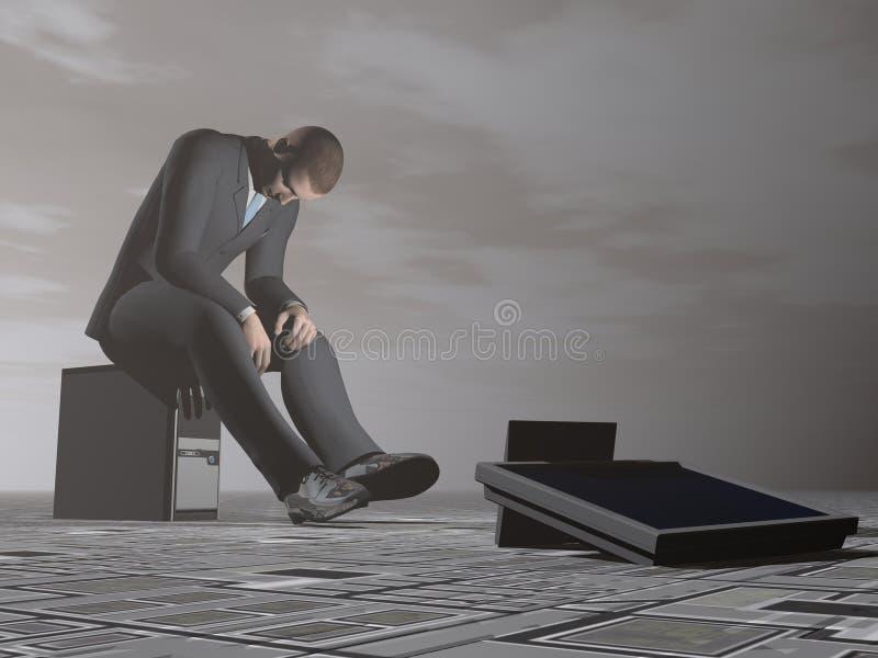L'uomo d'affari brucia - 3D rendono illustrazione vettoriale