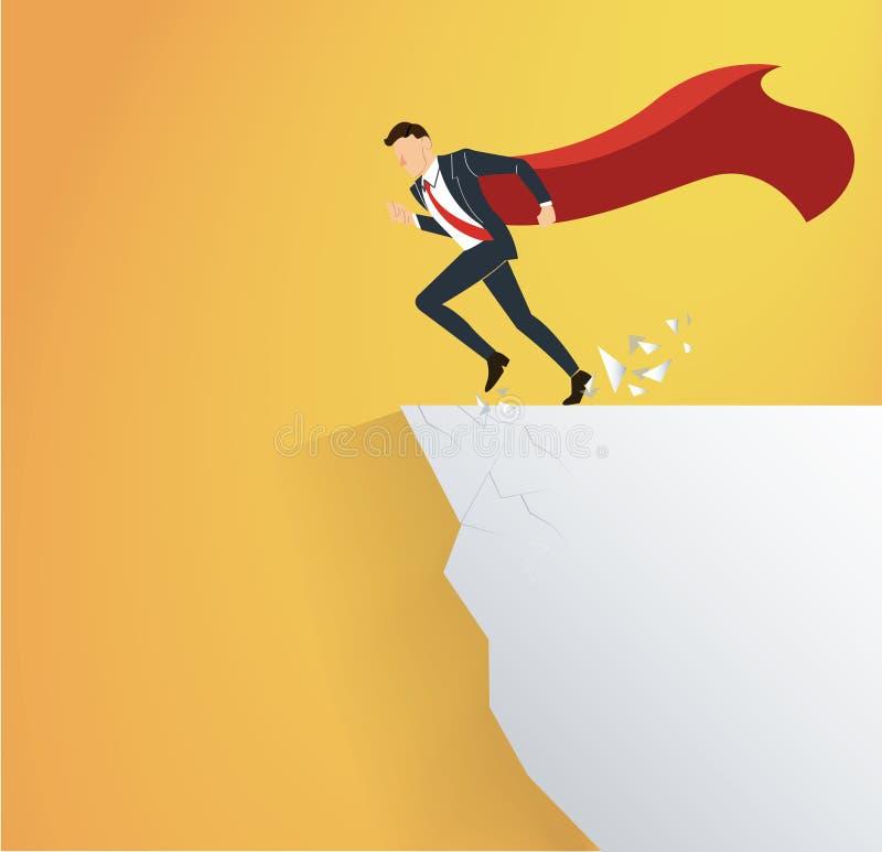 L'uomo d'affari con capo sormonta il concetto di rischio di crisi di ostacolo royalty illustrazione gratis