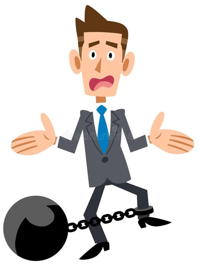 L'uomo d'affari ostacola la difficoltà royalty illustrazione gratis