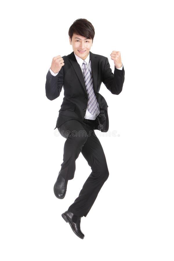 Download L'uomo d'affari salta fotografia stock. Immagine di pugno - 30828976
