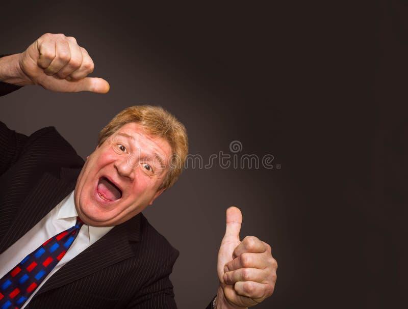 L'uomo d'affari senior felice fotografia stock