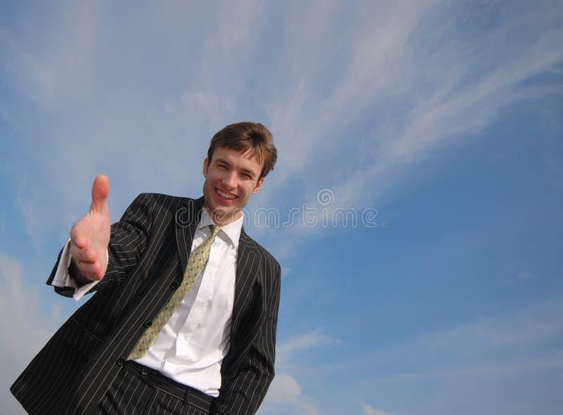 L'uomo d'affari sottopone la mano immagini stock