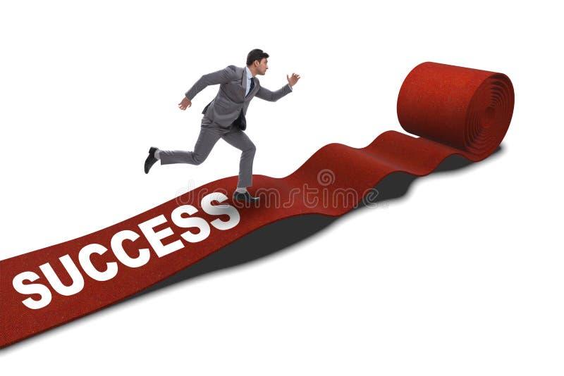 Download L'uomo D'affari Su Fondo Bianco Isolato Tappeto Rosso Fotografia Stock - Immagine di motivato, sfida: 117977656