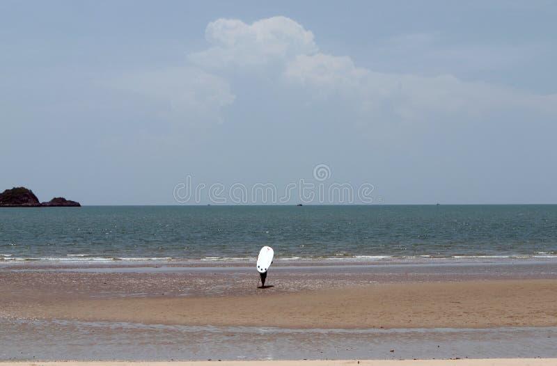 l'uomo ed il surf fotografia stock