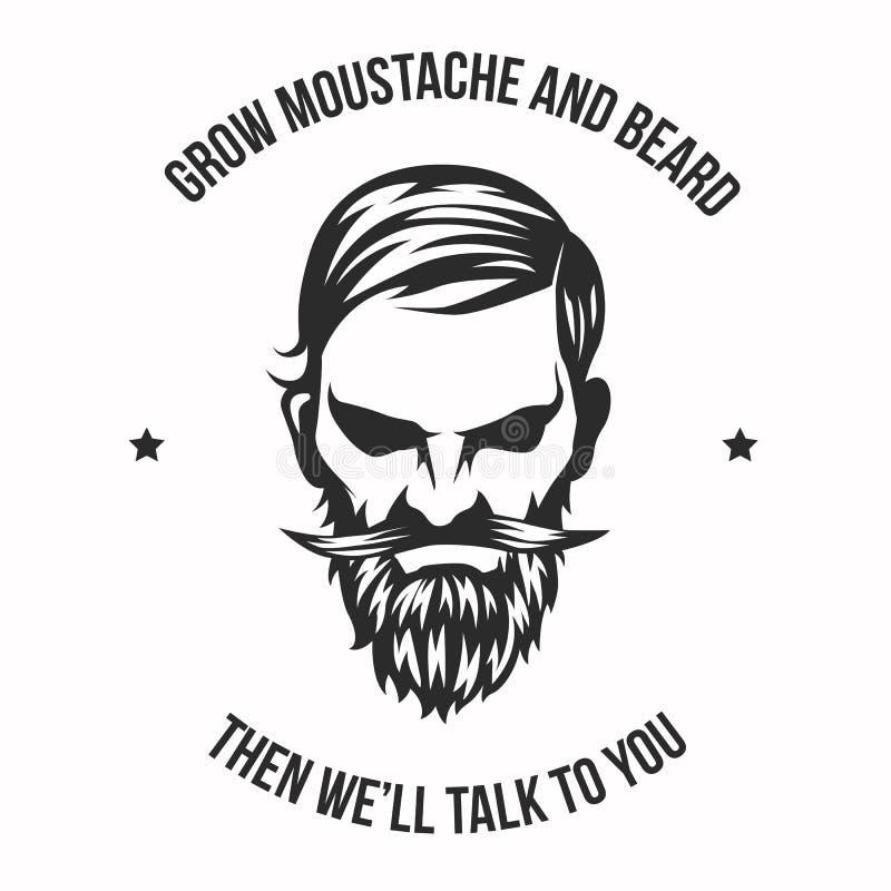 L'uomo reale coltiva i baffi e la barba illustrazione di stock