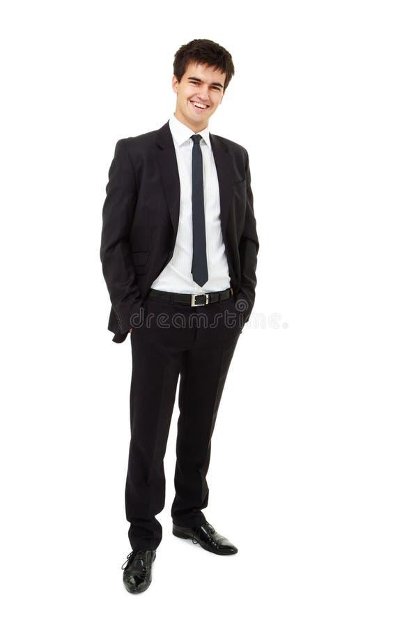 L'uomo sta portando un vestito di affari immagine stock