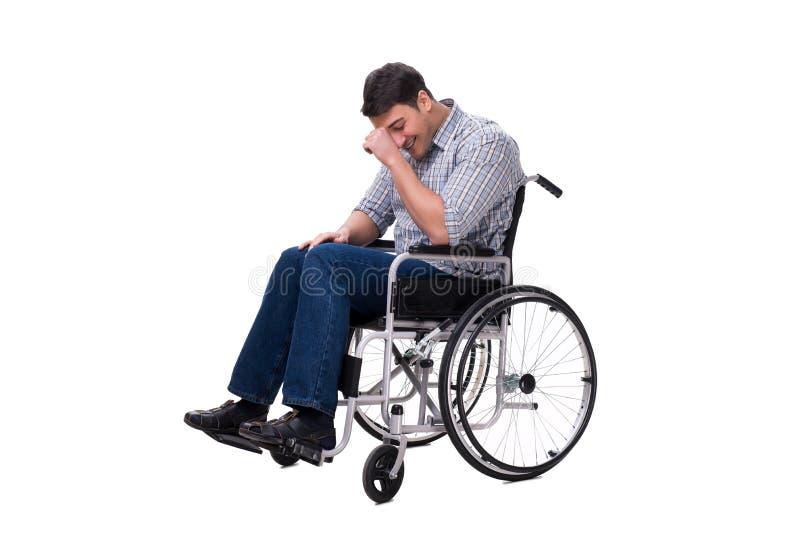 Download L'uomo Sulla Sedia A Rotelle Isolata Su Fondo Bianco Immagine Stock - Immagine di felice, handicap: 117976215