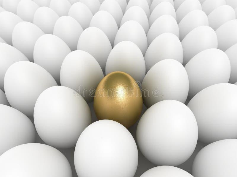 L'uovo dorato royalty illustrazione gratis