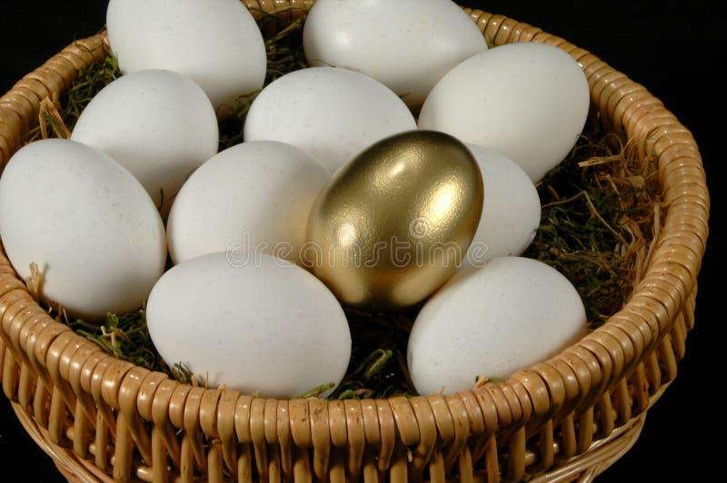 L'uovo dorato fotografia stock