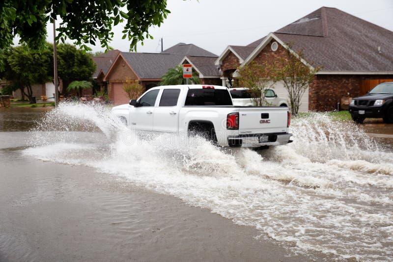 L'uragano Hanna atterra nel Texas meridionale immagini stock