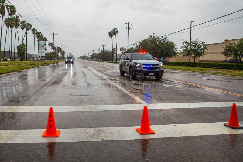 L'uragano Hanna atterra nel Texas meridionale fotografie stock libere da diritti