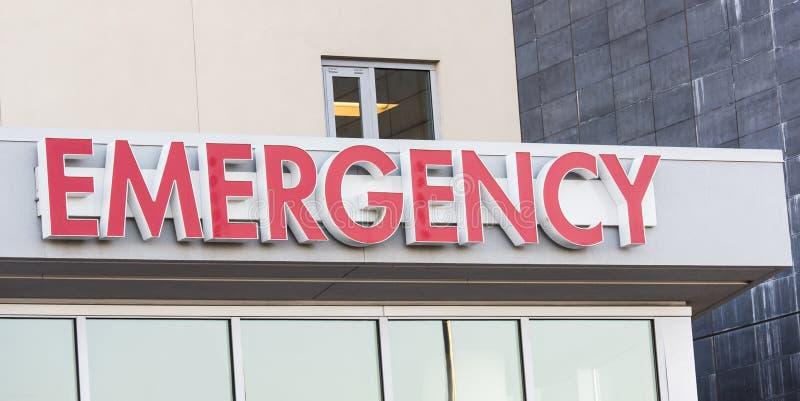 L'urgence d'hôpital se connectent l'entrée d'ER photographie stock libre de droits