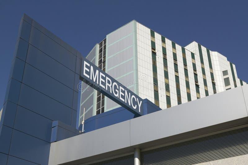 L'urgence se connectent l'entrée d'hôpital photographie stock libre de droits
