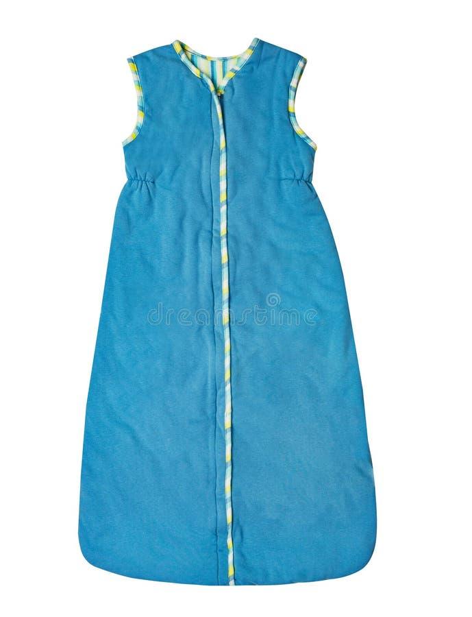 L'usage des enfants - vêtements de combinaison des bleus layette de l'enfant, dormeur images libres de droits