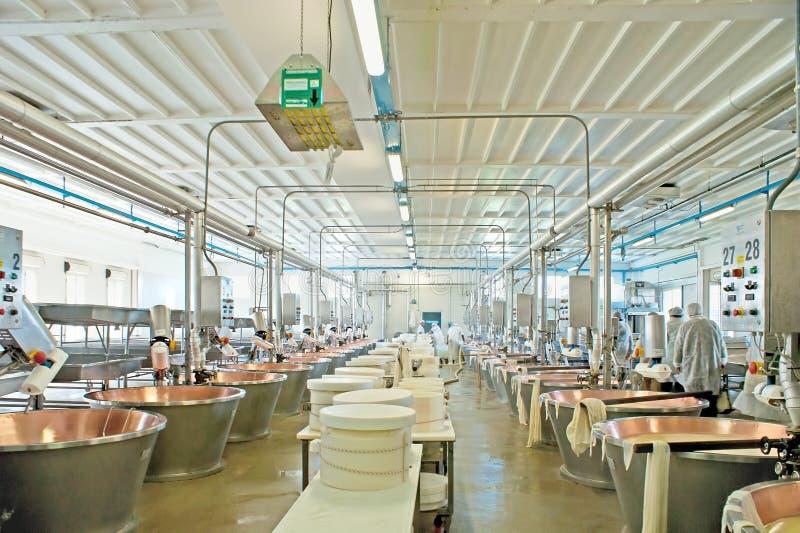 L'usine de fermentation de fromage images libres de droits