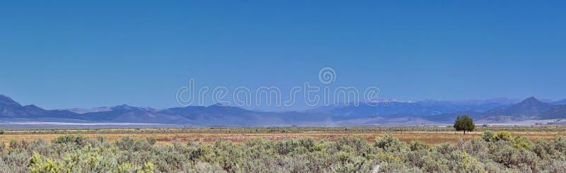 L'Utah Rocky Mountain Wasatch Panoramic Landscapes dalla foresta nazionale di Fishlake, lungo 15 I-15 da uno stato all'altro, att immagini stock libere da diritti