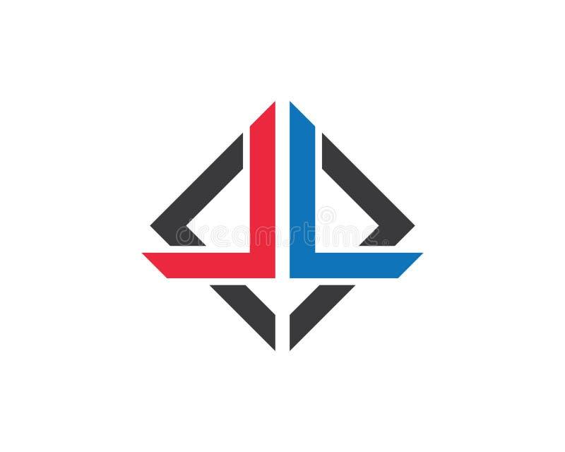 L vecto шаблона логотипа письма бесплатная иллюстрация