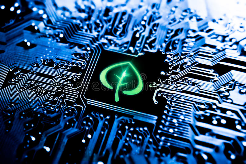 L'IT verde immagini stock libere da diritti