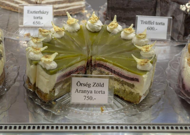 L'or vert d'Orseg, gâteau de la Hongrie 2016 images libres de droits