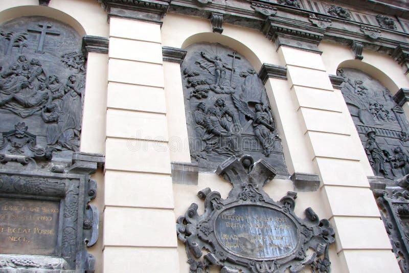 L ` viv ukraine Panorama von alten Gebäuden des historischen Stadtteiles stockfoto