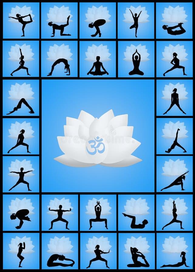 L'yoga posa lo schema illustrazione vettoriale