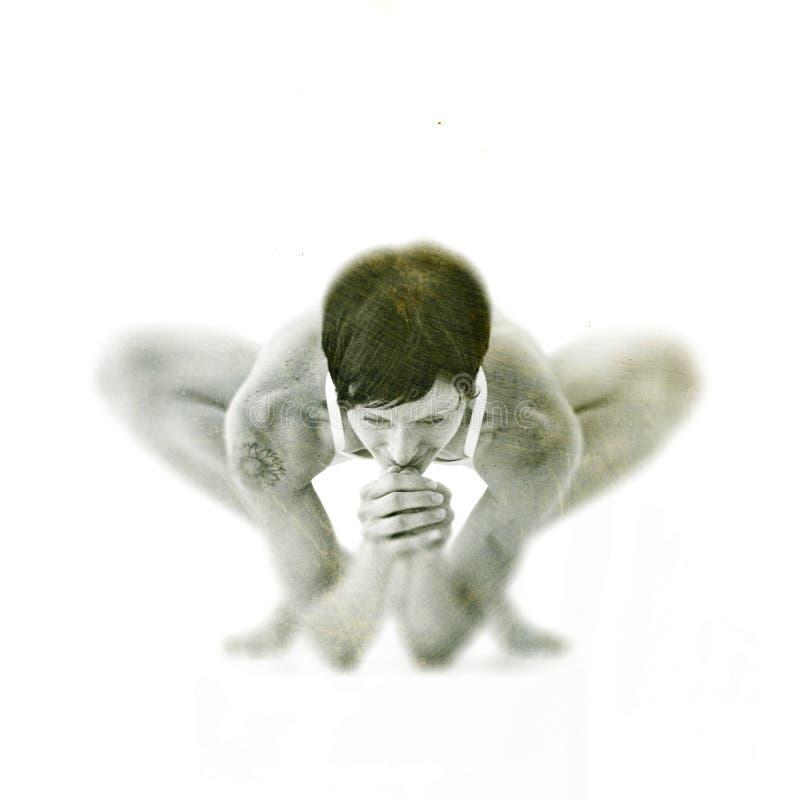 L'yoga posa per la donna immagine stock