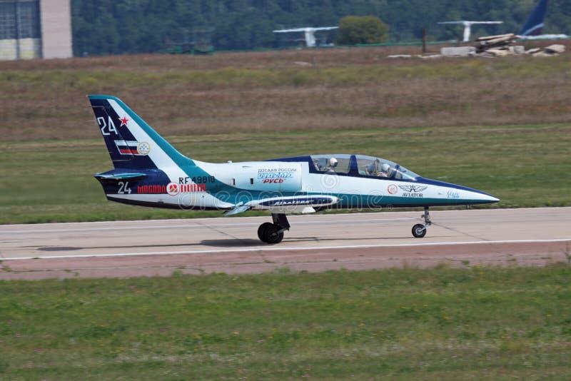 l39飞机 免版税库存照片