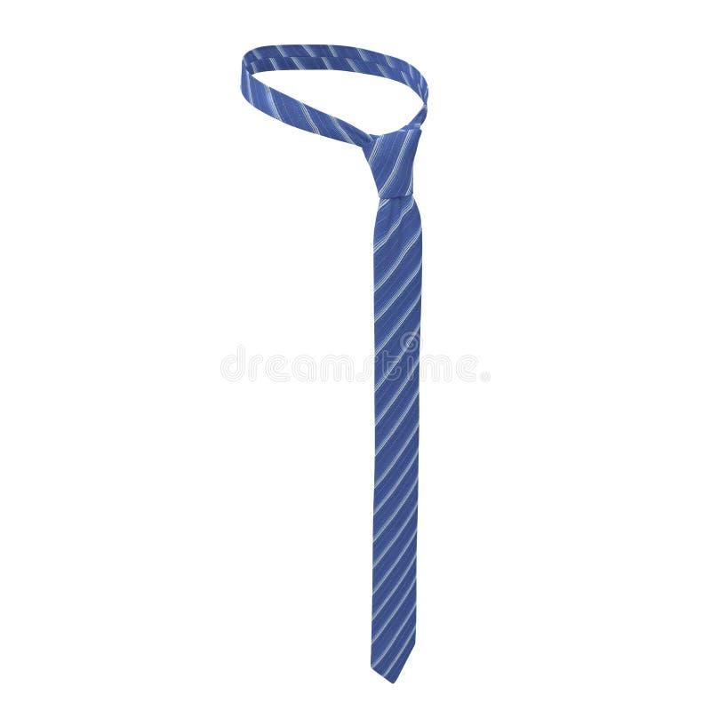 Laço azul com tiras, vestido de noite, isolado no branco ilustração 3D ilustração royalty free
