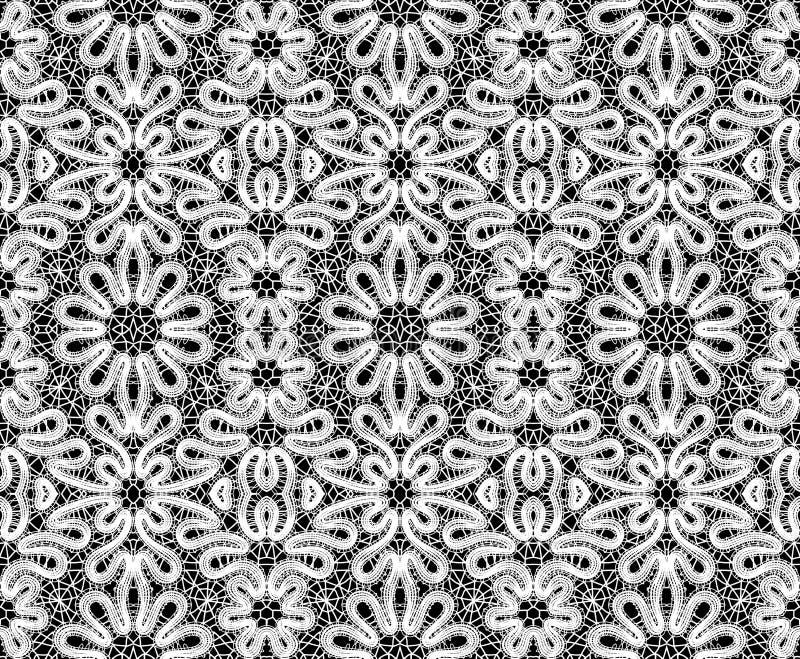 Laço branco bonito no fundo preto ilustração do vetor