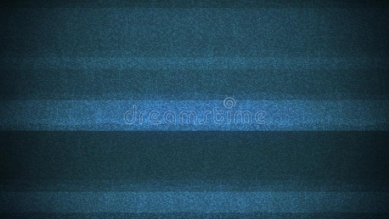 Laço brilhante do fundo da interferência de ruído do pulso aleatório do painel LCD para a tecnologia digital da contração muscula imagem de stock