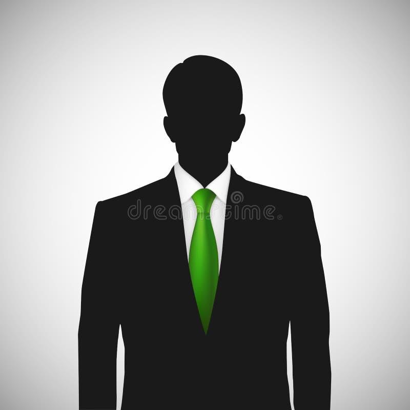 Laço desconhecido do verde do whith da silhueta da pessoa ilustração stock