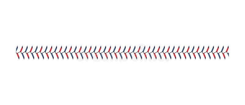 Laço do basebol ou o ponto que do softball do jogo do esporte a ilustração do vetor se isolou ilustração royalty free