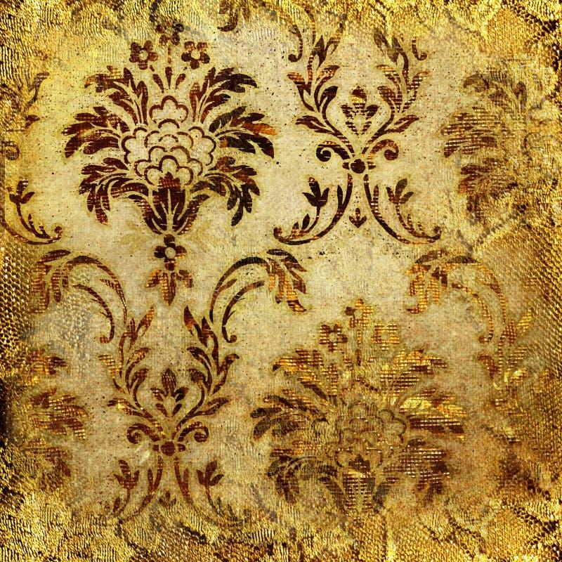 Laço dourado ilustração royalty free