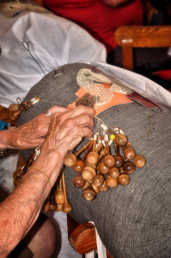 Laço feito a mão, tradição portuguesa fotografia de stock royalty free