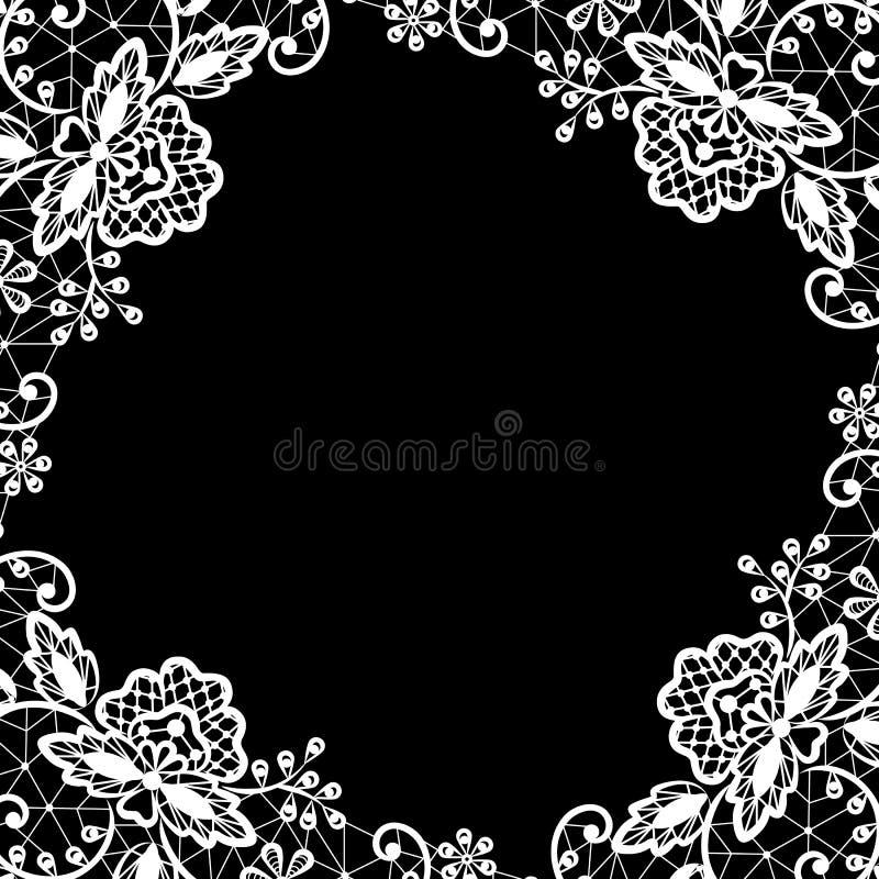 Laço no fundo preto ilustração royalty free