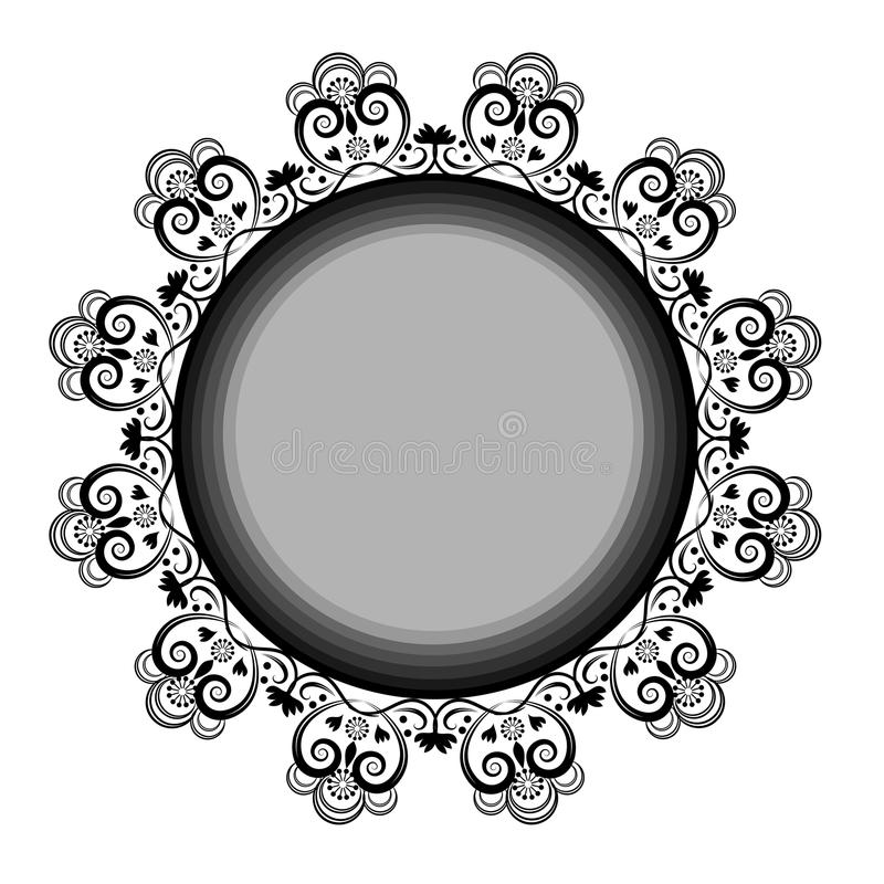 Laço redondo dos ornamento ilustração do vetor