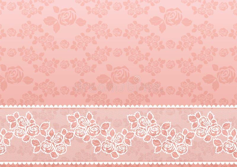 Laço Rosa ilustração do vetor