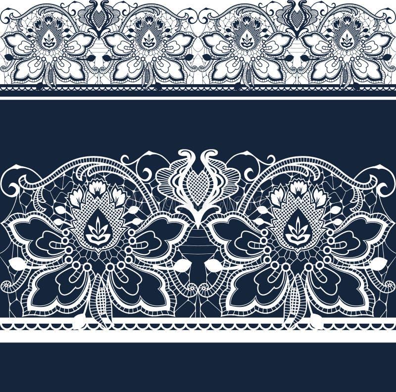Laço sem emenda branco e preto. ilustração royalty free
