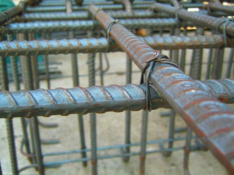 Laços de fio com aço para estruturas de construção imagem de stock