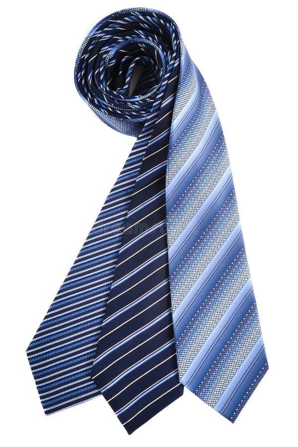 Laços de seda azuis fotografia de stock